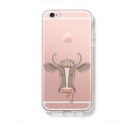 Cow iPhone 6s 6 Clear Case iPhone 6 plus Cover iPhone 5s 5 5c Transparent Case Galaxy S6 Edge S6 S5 Case - Acyc - 1