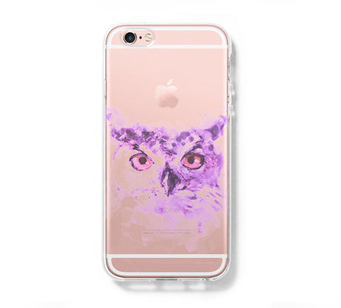OWL Watercolor iPhone 6s 6 Clear Case iPhone 6 plus Cover iPhone 5s 5 5c Transparent Case Galaxy S6 Edge S6 S5 Case - Acyc - 1