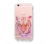 Tiger Face Watercolor iPhone 6s 6 Clear Case iPhone 6 plus Cover iPhone 5s 5 5c Transparent Case Galaxy S6 Edge S6 S5 Case - Acyc - 1