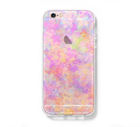 Pastel Abstract Watercolor iPhone 6s 6 Clear Case iPhone 6 plus Cover iPhone 5s 5 5c Transparent Case Galaxy S6 Edge S6 S5 Case - Acyc - 1