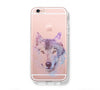 Pastel Wolf  iPhone 6s 6 Clear Case iPhone 6 plus Cover iPhone 5s 5 5c Transparent Case Galaxy S6 Edge S6 S5 Case - Acyc - 1