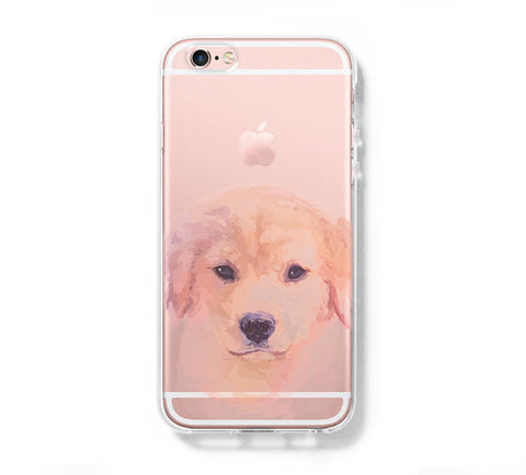 Little Dog Face iPhone 6s 6 Clear Case iPhone 6 plus Cover iPhone 5s 5 5c Transparent Case Galaxy S6 Edge S6 S5 Case - Acyc - 1