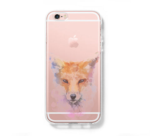 Pastel Fox iPhone 6s 6 Clear Case iPhone 6 plus Cover iPhone 5s 5 5c Transparent Case Galaxy S6 Edge S6 S5 Case - Acyc - 1