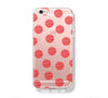 Big Fire Red Polka Dots iPhone 6s 6 Clear Case iPhone 6 plus Cover iPhone 5s 5 5c Transparent Case Galaxy S6 Edge S6 S5 Case - Acyc - 1