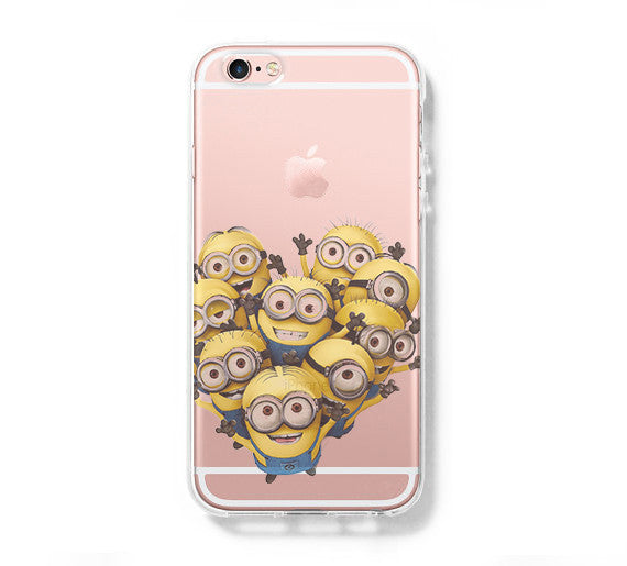 new style 10890 7e43f Despicable me Minion iPhone 6s 6 Clear Case iPhone 6 plus Cover iPhone 5s 5  5c Transparent Case Galaxy S6 Edge S6 S5 Case - Acyc