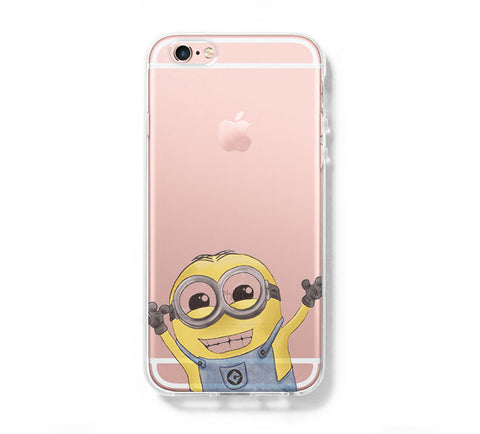 Despicable me Little Yellow Guy iPhone 6s 6 Clear Case iPhone 6 plus Cover iPhone 5s 5 5c Transparent Case Galaxy S6 Edge S6 S5 Case - Acyc - 1