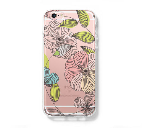 Flowers  iPhone 6s 6 Clear Case iPhone 6 plus Cover iPhone 5s 5 5c Transparent Case Galaxy S6 Edge S6 S5 Case - Acyc - 1