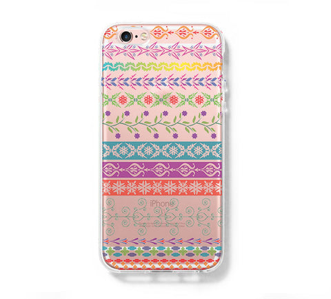 Native Ethnic iPhone 6s 6 Clear Case iPhone 6S/6 Plus Cover iPhone 5s 5 5c Transparent Case Galaxy S6 Edge S6 S5 Case - Acyc - 1