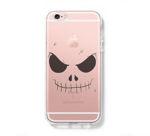 Halloween Face iPhone 6s 6 Clear Case iPhone 6S/6 Plus Cover iPhone 5s 5 5c Transparent Case Galaxy S6 Edge S6 S5 Case - Acyc - 1