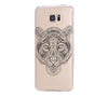 Tiger Tribal Style Samsung Galaxy S6 Edge Clear Case Galaxy S6 Transparnet Case S5 Hard Case iPhone Crystal  Case - Acyc - 2