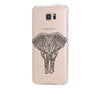 Elephant Tribal Style Samsung Galaxy S6 Edge Clear Case Galaxy S6 Transparnet Case S5 Hard Case iPhone Crystal  Case - Acyc - 1