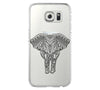 Elephant Tribal Style Samsung Galaxy S6 Edge Clear Case Galaxy S6 Transparnet Case S5 Hard Case iPhone Crystal  Case - Acyc - 2