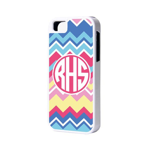 Color Chevron Monogram iPhone 6 Plus 6 5S 5 5C 4 Case - Acyc - 1