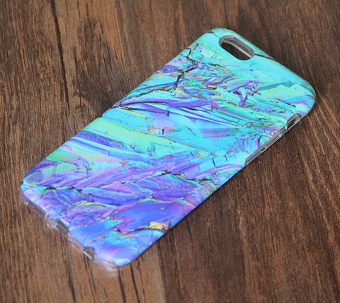 Crystal stone Marble iPhone 6s 6 Tough Case/Plus/5S/5C/5/4S Dual Layer Case #812 - Acyc - 1