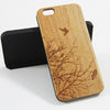 Flying Birds Tree Real Wood Engraved iPhone 6 Case/Plus/5s/5 - Acyc - 2