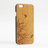Flying Birds Tree Real Wood Engraved iPhone 6 Case/Plus/5s/5 - Acyc - 1