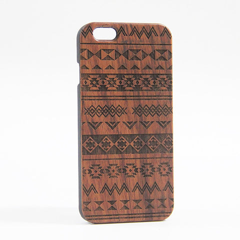 Ethnic Tribal Real Wood Engraved iPhone 6S/6 Case/6S Plus/6 PLUS/5S/5 - Acyc - 1