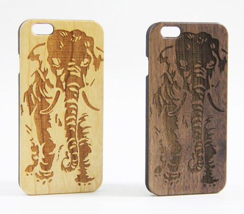 Elephant Natural Wood Engraved iPhone 6S/6 Case/6S Plus/6 PLUS/5S/5 - Acyc - 1