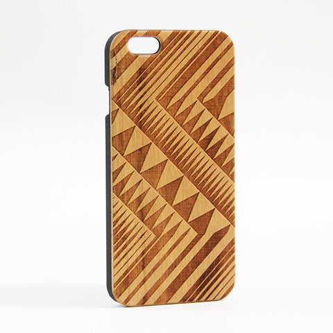Geometric Triangle Wood Engraved iPhone 6 Case/Plus/5s/5 - Acyc - 1