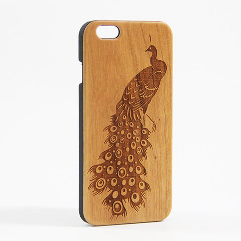 Elegant Peacock Wood Engraved iPhone 6 Case/Plus/5s/5 - Acyc - 1