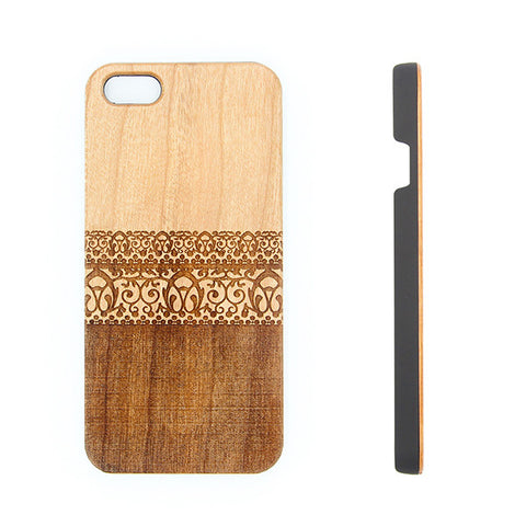 Lace Floral  Natural Wood Engraved iPhone 6s Case iPhone 6s plus  Cover iPhone 6 5s 5 5C Real Wooden Case - Acyc - 1