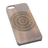 Retro Madala Floral  Natural Wood Engraved iPhone 6s Case iPhone 6s plus Cover iPhone 6 5s 5 Real Wooden Case - Acyc - 1