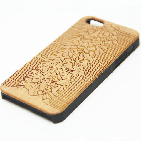 Joy Division Unknown Pleasures Natural Wood Engraved iPhone 6s Case iPhone 6s plus Cover iPhone 6 5s 5 Real Wooden Case - Acyc - 1