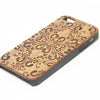 Classy Floral Natural Wood Engraved iPhone 6s Case iPhone 6s plus Cover iPhone 6 5s 5 Real Wooden Case - Acyc - 2