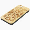 Maya Native Natural Wood Engraved iPhone 6s Case iPhone 6s plus Cover iPhone 6 5s 5 Real Wooden Case - Acyc - 1