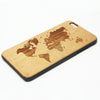 Retro World Map Natural Wood Engraved iPhone 6s Case iPhone 6s plus Cover iPhone 6 5s 5 Real Wooden Case - Acyc - 1