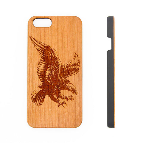 Free Flight Eagle Natural Wood Engraved iPhone 6s Case iPhone 6s plus Cover iPhone 6 5s 5 Real Wooden Case - Acyc - 1