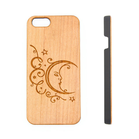 Fairy Tale Moon Natural Wood Engraved iPhone 6s Case iPhone 6s plus Cover iPhone 6 5s 5 Real Wooden Case - Acyc - 1