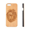 Lion Animal Natural Wood Engraved iPhone 6s Case iPhone 6s plus Cover iPhone 6 5s 5 Real Wooden Case - Acyc - 1