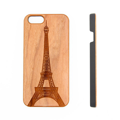 Vintage Eiffel Tower Paris Wood Engraved iPhone 6s Case iPhone 6s plus Cover iPhone 6 5s 5 Real Wooden Case - Acyc - 1