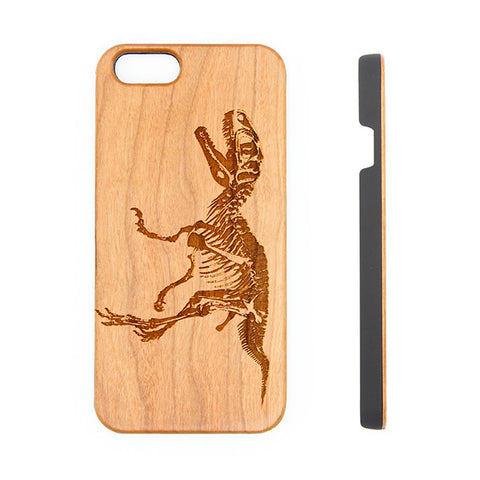 Dinosaur Wood Engraved iPhone 6s Case iPhone 6s plus Cover iPhone 6 5s 5 Real Wooden Case - Acyc - 1