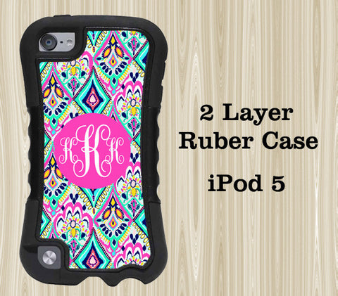 Ethnic Floral Arts Monogram iPod Touch 5 Case iPod Touch 4 Case - Acyc - 1