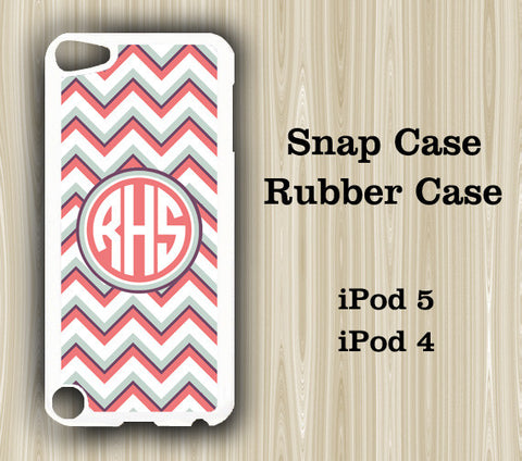 Fashion Chevron Monogram iPod Touch 5 Case iPod Touch 4 Case - Acyc - 1