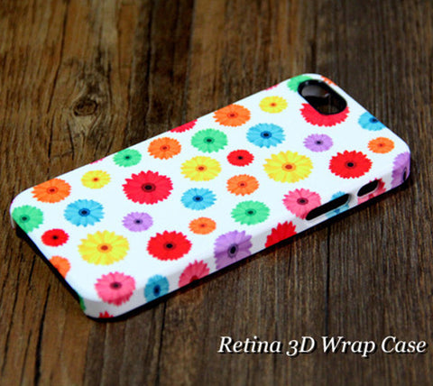 Chrysanthemum Floral iPhone 6s Plus/6/5S/5C/5/4S/4 Dual Layer Tough Case #217 - Acyc - 1