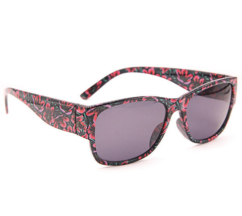 Elegant Pink Floral Wayfarer Sunglass Stylish Summer Glasses - Acyc - 1