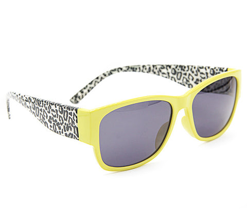 Yellow Leopard Stylish Wayfarer Sunglass Stylish Summer Glasses - Acyc - 1