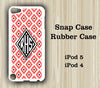 Geometric Red Pattern Monogram iPod Touch 5 Case iPod Touch 4 Case - Acyc - 1
