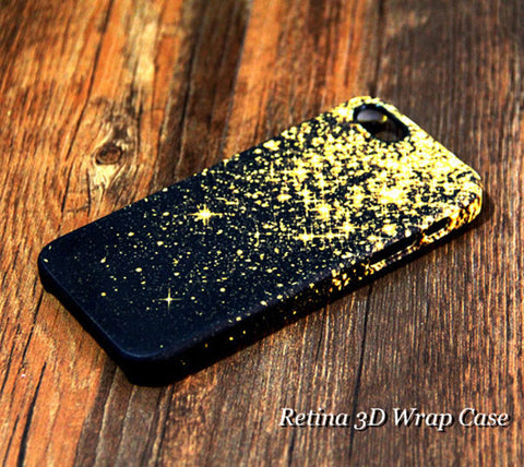 Gold Glitter iPhone 6s Plus 6 5S 5C 5 4 Dual Layer Durable Tough Case #147 - Acyc - 1