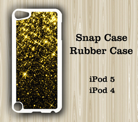 Golden Glitter iPod Touch 5 Case iPod Touch 4 Case - Acyc - 1