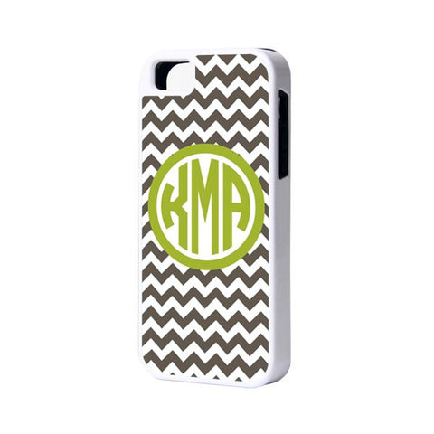 Green Chevron Monogram iPhone Cases and Samsung Cases - Acyc - 1