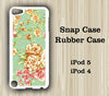Green Floral iPod Touch 5 Case iPod Touch 4 Case - Acyc - 1