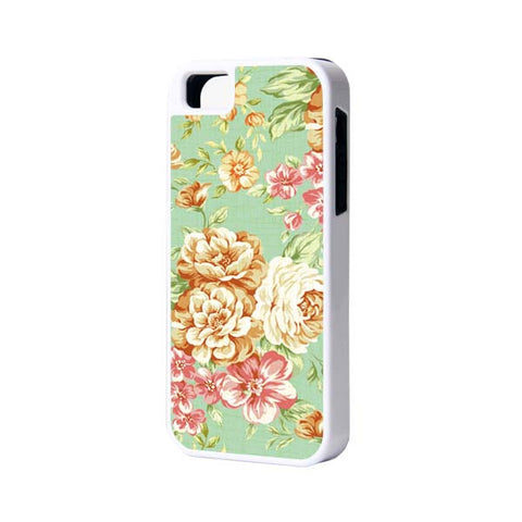 Floral Pattern iPhone 6 Plus 6 5S 5 5C 4 Rubber Case - Acyc - 1