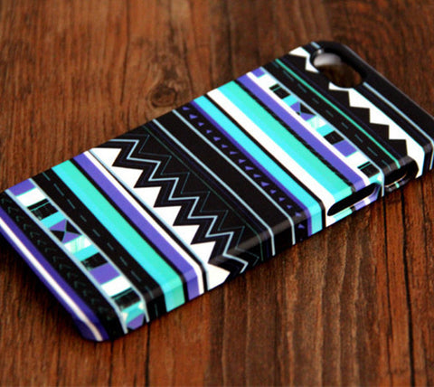 Aztec Blue Geometric iPhone 6 Plus 6 5S 5C 5 4 Dual Layer Durable Tough Case #113 - Acyc - 1