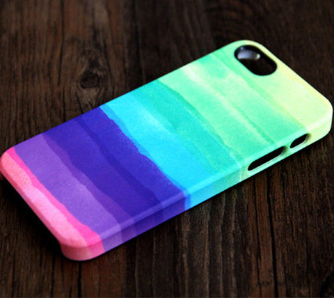 Pastel Abstract Watercolor iPhone 6 Case/Plus/5S/5C/5/4S Dual Layer Durable Tough Case #143 - Acyc - 1