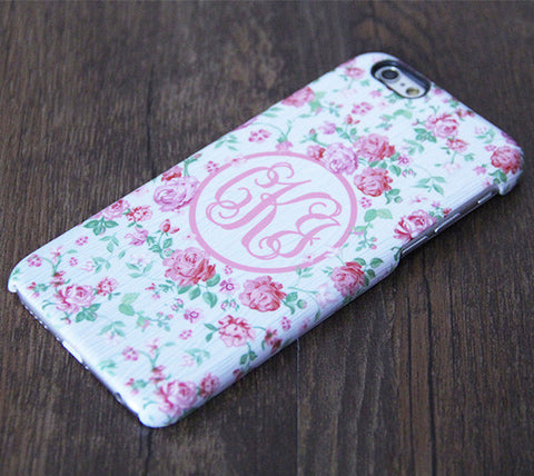 Wedding Flowers Floral Pattern Monogram iPhone 6S 6 Plus 6S 5S 5 5C Dual Layer Durable Tough Case #995 - Acyc - 1