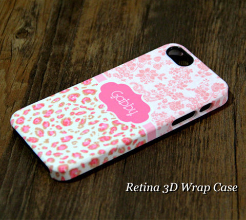 Pink Skin Monogram iPhone 6S Plus 6S 6 5S 5 5C 4 Dual Layer Durable Tough Case #954 - Acyc - 1